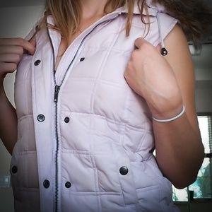 Gap Waterproof Hooded Fur Vest Jacket